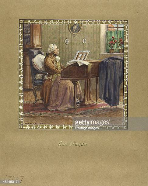 Joseph Haydn at the grand piano 1917 From a private collection