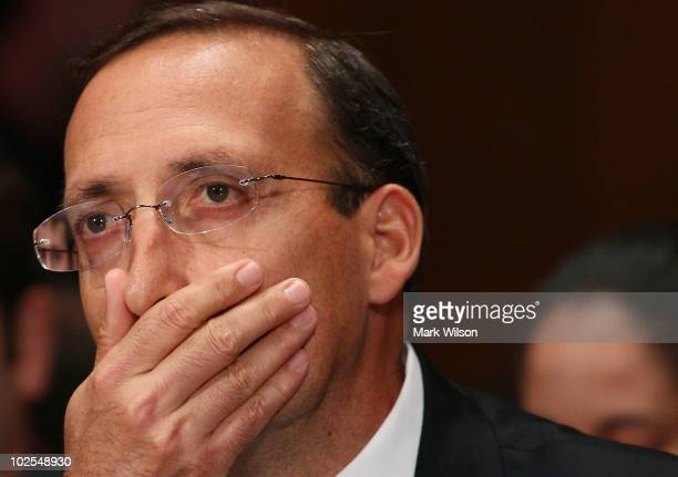 Joseph J Cassano former Chief Executive Officer American International Group participates in a Financial Crisis Inquiry Commission hearing on Capitol...