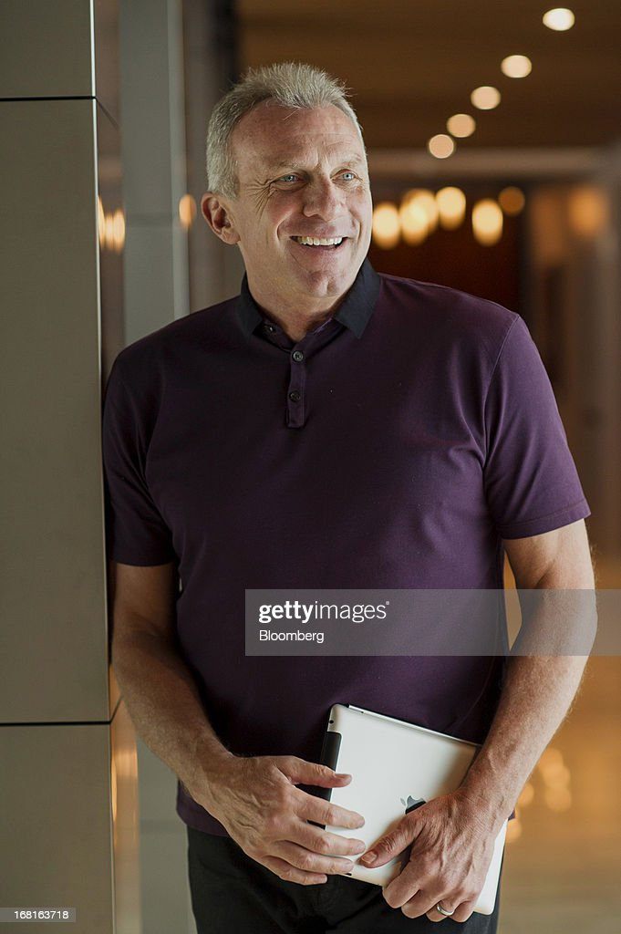 Joseph 'Joe' Montana, co-founder of iMFL and retired National Football League (NFL) quarterback, stands for a photograph after an interview in San Francisco, California, U.S. on Tuesday, April 30, 2013. iMFL, a fantasy football application that will be available for download at the Apple Inc. App Store, will be released before the start of the 2013 NFL season. Photographer: David Paul Morris/Bloomberg via Getty Images