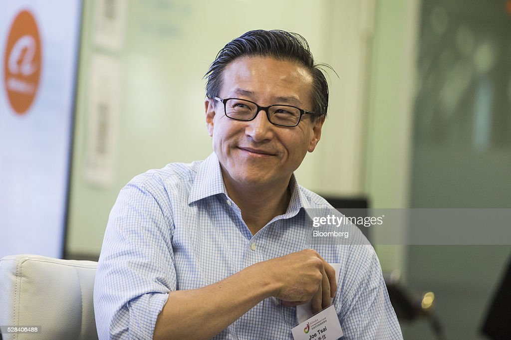 Joseph 'Joe' Tsai, co-vice chairman of Alibaba Group Holding Ltd., attends a news conference in Hong Kong, China, on Thursday, May 5, 2016. Alibaba's HK$1 billion fund for Hong Kong entrepreneurs is investing in GoGoVan, a hauling and delivery service that's one of the city's biggest startups, and other online services. Photographer: Justin Chin/Bloomberg via Getty Images