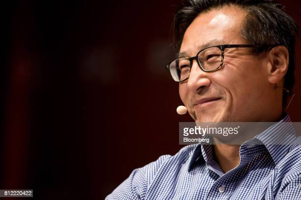 Joseph 'Joe' Tsai covice chairman of Alibaba Group Holding Ltd attends the Rise conference in Hong Kong China on Tuesday July 11 2017 Stripe...
