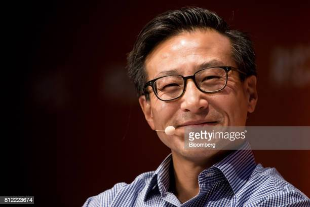 Joseph 'Joe' Tsai covice chairman of Alibaba Group Holding Ltd pauses during the Rise conference in Hong Kong China on Tuesday July 11 2017 Stripe...