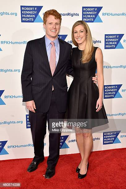 Joseph Kennedy III and Lauren Anne Birchfield attend the RFK Ripple Of Hope Gala at Hilton Hotel Midtown on December 16 2014 in New York City