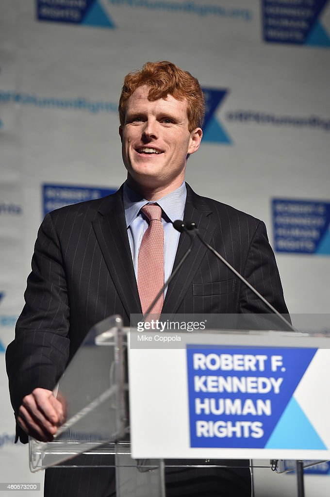Joseph Kennedy III speaks onstage at the RFK Ripple Of Hope Gala at Hilton Hotel Midtown on December 16, 2014 in New York City.