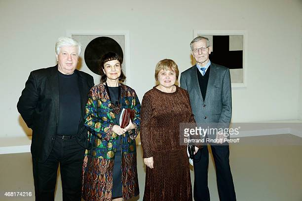 Joseph Kiblitsky Directrice Museum Pouchkine Marina Lochak Eugenia Petrova and Director of Collections Moderne Art Museum of Ermitage attend 'Les...