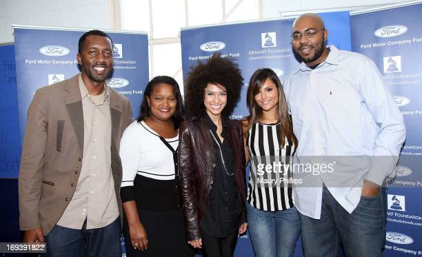 Joseph Langford of The Grammy Foundation Pamela Alexander director of community development Ford Company Fund Andy Allo Pia Toscano and Tremaine...