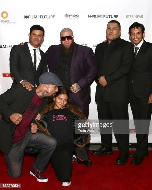 Joseph Lucero Brooklyn Lucero Elgin James Loki and Richard Cabral at the Film2Future Year 2 Awards Ceremony on November 16 2017 in Los Angeles...