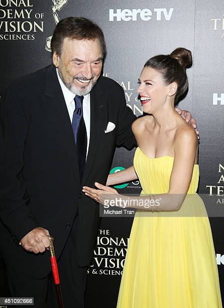 Joseph Mascolo and Elizabeth Hendrickson arrive at the 41st Annual Daytime Emmy Awards held at The Beverly Hilton Hotel on June 22 2014 in Beverly...