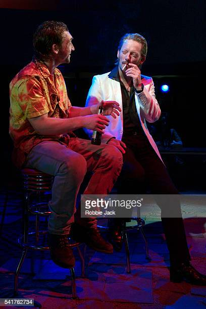 Joseph Mawle and Douglas Henshall perform in the production of 'The Last Days Of Judas Iscariot ' by Stephen Adly Guirgis at the Almeida Theatre in...