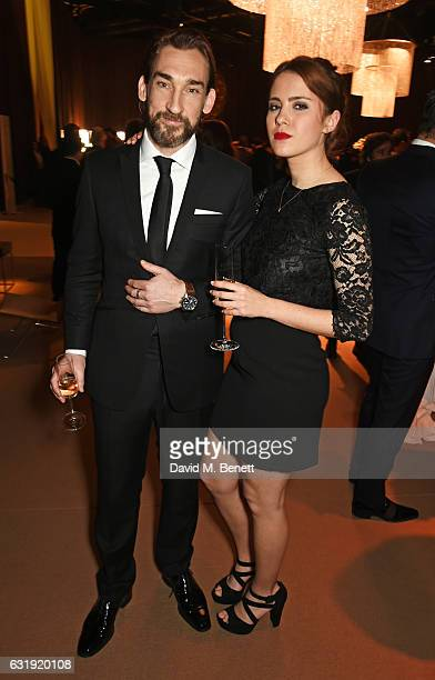 Joseph Mawle and Iris Irish attend the IWC Schaffhausen 'Decoding the Beauty of Time' Gala Dinner during the launch of the Da Vinci Novelties from...