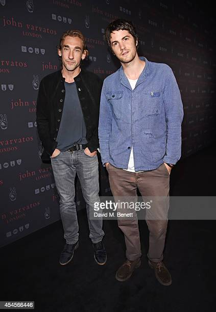 Joseph Mawle and Jim Sturgess attend as John Varvatos launch their first European store in London on September 3 2014 in London England