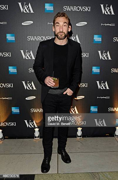 Joseph Mawle arrives at the Alexander McQueen Savage Beauty VIP private view at the Victoria and Albert Museum on March 14 2015 in London England