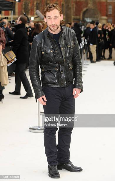 Joseph Mawle attends the Burberry Autumn Winter 2012 Womenswear Front Row during London Fashion Week at Kensington Gardens on February 20 2012 in...