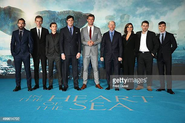 Joseph Mawle Edward Ashley Tom Holland Ben Walker Chris Hemsworth Ron Howard Charlotte Riley James Sives and Cillian Murphy attend the Red Carpet...