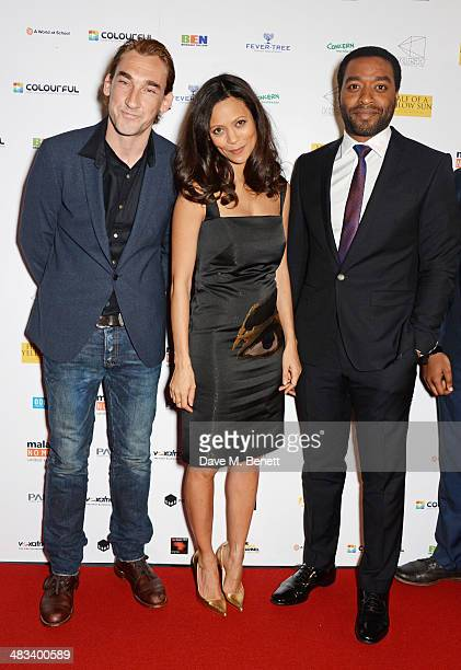Joseph Mawle Thandie Newton and Chiwetel Ejiofor attend the UK Premiere of 'Half Of A Yellow Sun' at Odeon Streatham on April 8 2014 in London England