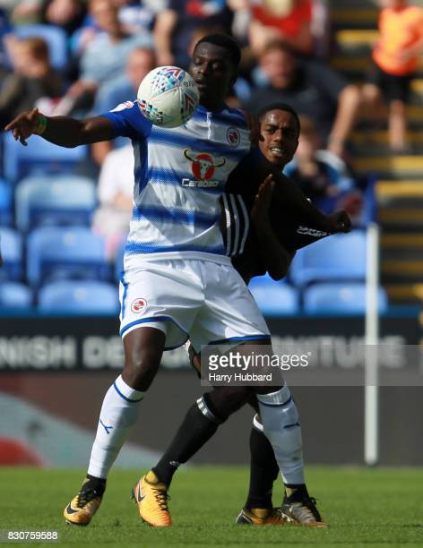 Joseph Mendes of Reading and Ryan Sessegnon of Fulham in action during the Sky Bet Championship match between Reading and Fulham at Madejski Stadium...