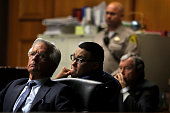 NORWALK CA MONDAY NOVEMBER 9 2015 Joseph Mercado is flanked by attorneys Daniel Nardoni left and Richard Leonard right during closing arguments in...