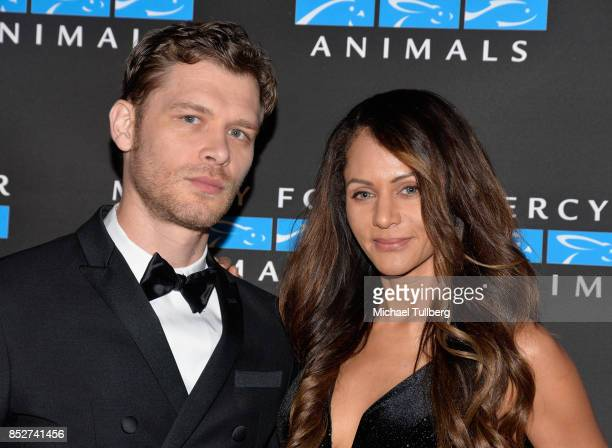 Joseph Morgan and Persia White attend Mercy For Animals' annual Hidden Heroes Gala at Vibiana on September 23 2017 in Los Angeles California