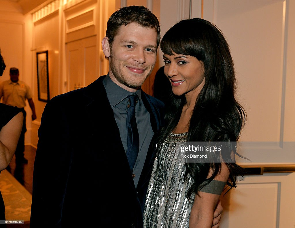 Joseph Morgan and <a gi-track='captionPersonalityLinkClicked' href=/galleries/search?phrase=Persia+White&family=editorial&specificpeople=210683 ng-click='$event.stopPropagation()'>Persia White</a> attend The Vampire Diaries 100th Episode Celebration on November 9, 2013 in Atlanta, Georgia.