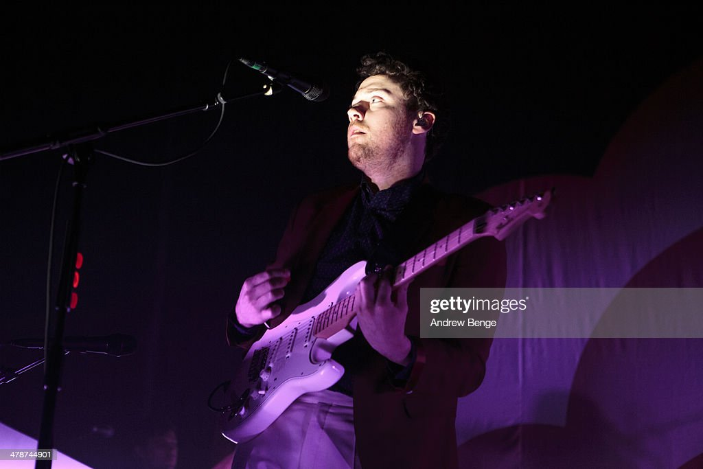 Joseph Mount of Metronomy performs on stage at Ritz Manchester on March 14, 2014 in Manchester, United Kingdom.