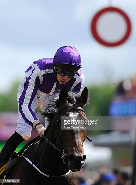 Joseph O'Brien riding Kingfisher win The Betfair Cash Out Dee Stakes at Chester racecourse on May 09 2014 in Chester England