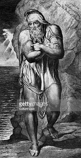 Joseph of Arimathea Among the Rocks of Albion engraved by William Blake 1773 After a painting by Michaelangelo Caption reads 'This is one of the...