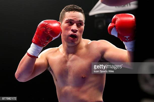 Joseph Parker during his fight against Keith Thompson at the Sands Bethlehem Event Center in Bethlehem Pennsylvania