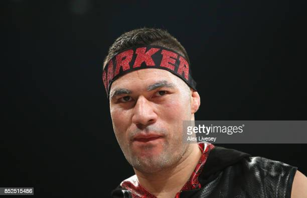 Joseph Parker enters the ring prior to the WBO World Heavyweight Title fight at Manchester Arena on September 23 2017 in Manchester England