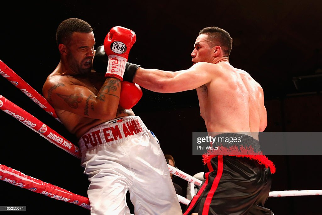 Joseph Parker fights Jason Pettaway at the Vodafone Events Centre in Manukau on March 5 2015 in Auckland New Zealand