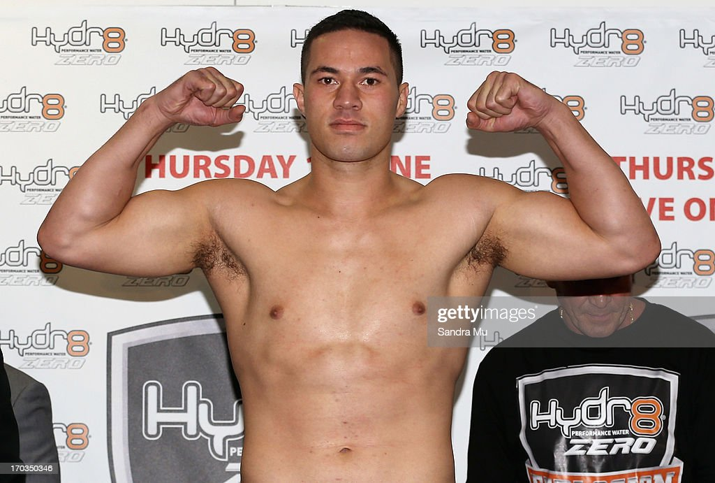 Joseph Parker of New Zealand poses during the weigh in ahead of tomorrow night's bout between Joseph Parker and Francois Botha at Trusts Stadium on June 12, 2013 in Auckland, New Zealand.