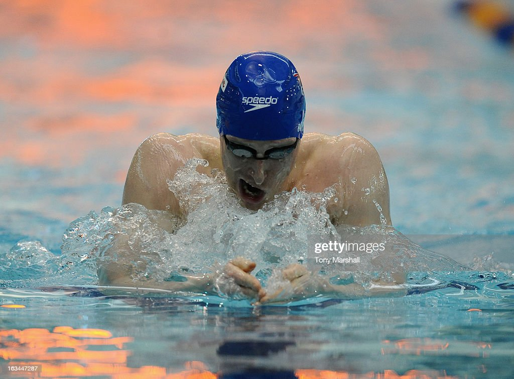 Joseph Roebuck of loughborough University in action in his heat of the Men's Open 200m Individual Medley during The British Gas International Swimming Meet at John Charles Centre for Sport on March 10, 2013 in Leeds, England.