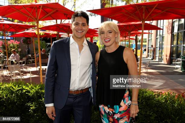Joseph Schooling and Bethanie MattekSands pose on Day Thirteen of the 2017 US Open at the USTA Billie Jean King National Tennis Center on September 9...
