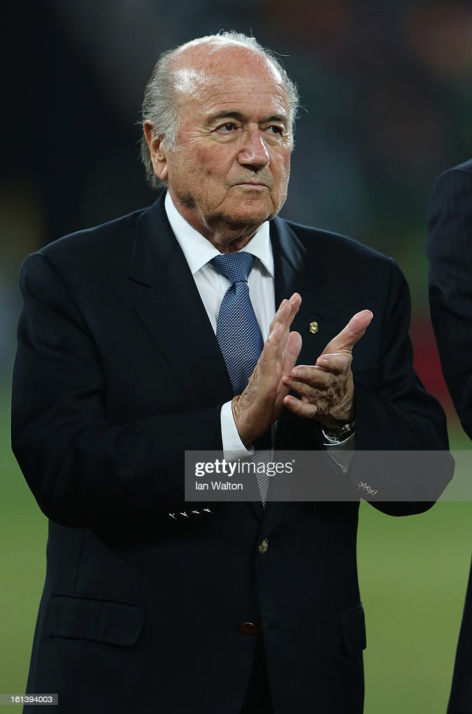 Joseph Sepp Blatter, President of FIFA looks on during the 2013 Africa Cup of Nations Final match between Nigeria and Burkina at FNB Stadium on February 10, 2013 in Johannesburg, South Africa.