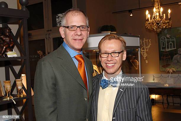 Joseph Singer and Mish Tworkowski attend Cocktails at Hollyhock Honoring Mish NY and the Breast Center at UCLA at West Hollywood on May 7 2007 in...