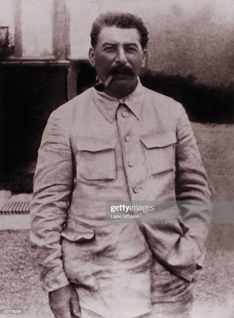 <a gi-track='captionPersonalityLinkClicked' href=/galleries/search?phrase=Joseph+Stalin&family=editorial&specificpeople=91259 ng-click='$event.stopPropagation()'>Joseph Stalin</a>, born Josef Vissarionovich Dzugashvili, (1879- 1953) a Bolshevik revolutionary and leader of the Soviet Union, Tblisi, 1940. He remained in power through World War II and until his death.