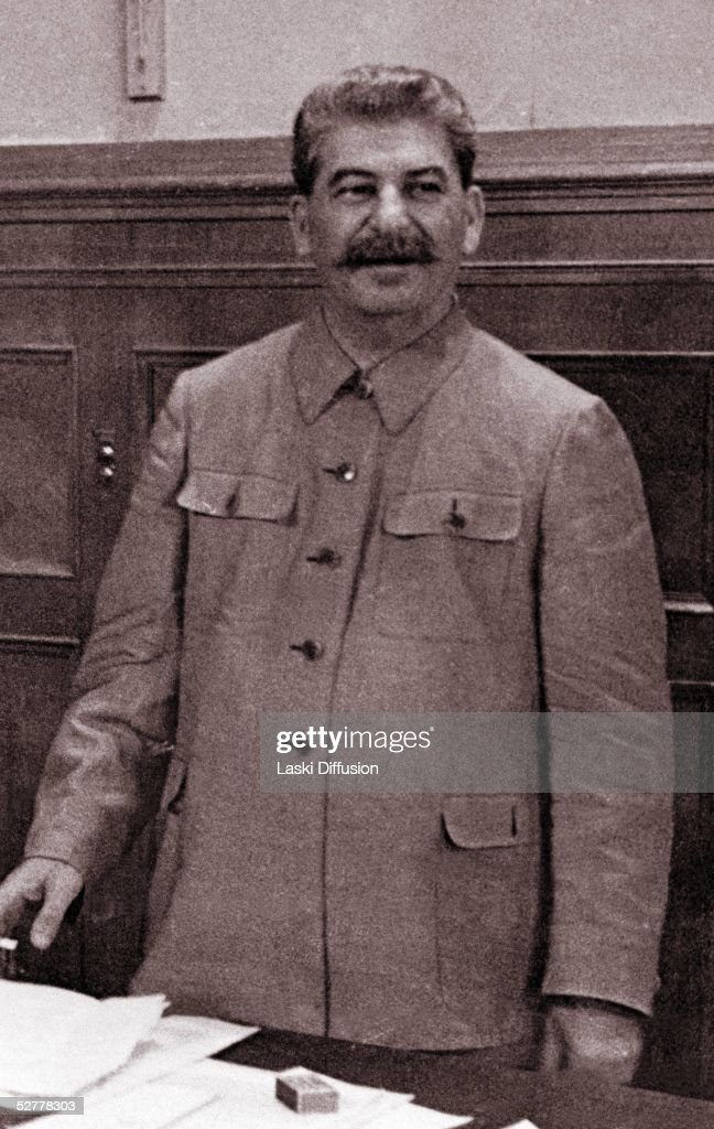 <a gi-track='captionPersonalityLinkClicked' href=/galleries/search?phrase=Joseph+Stalin&family=editorial&specificpeople=91259 ng-click='$event.stopPropagation()'>Joseph Stalin</a>, born Josef Vissarionovich Dzugashvili, (1879- 1953), a Bolshevik revolutionary and leader of the Soviet Union, Moscow, 1944. He remained in power through World War II and until his death.