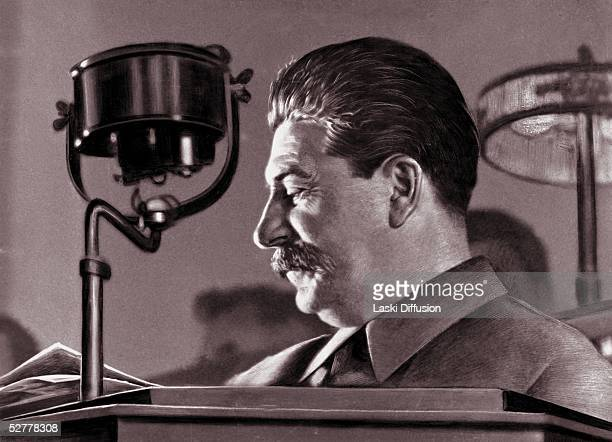 Joseph Stalin born Josef Vissarionovich Dzugashvili a Bolshevik revolutionary and leader of the Soviet Union Moscow 1944 He remained in power through...