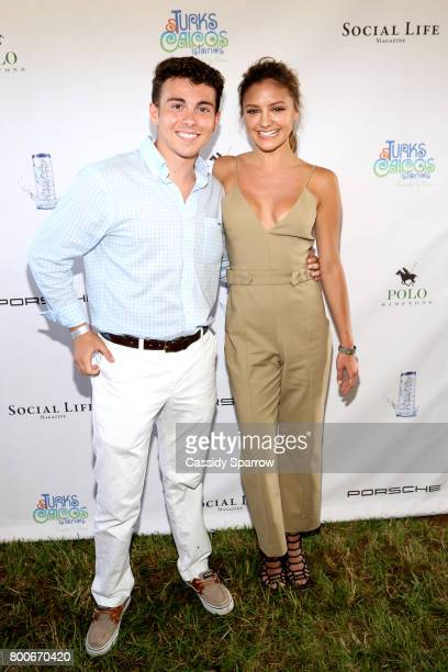 Joseph Tuozzo and Christine Evangelista attend the 2017 Polo Hamptons at Southampton Polo Club on June 24 2017 in New York City