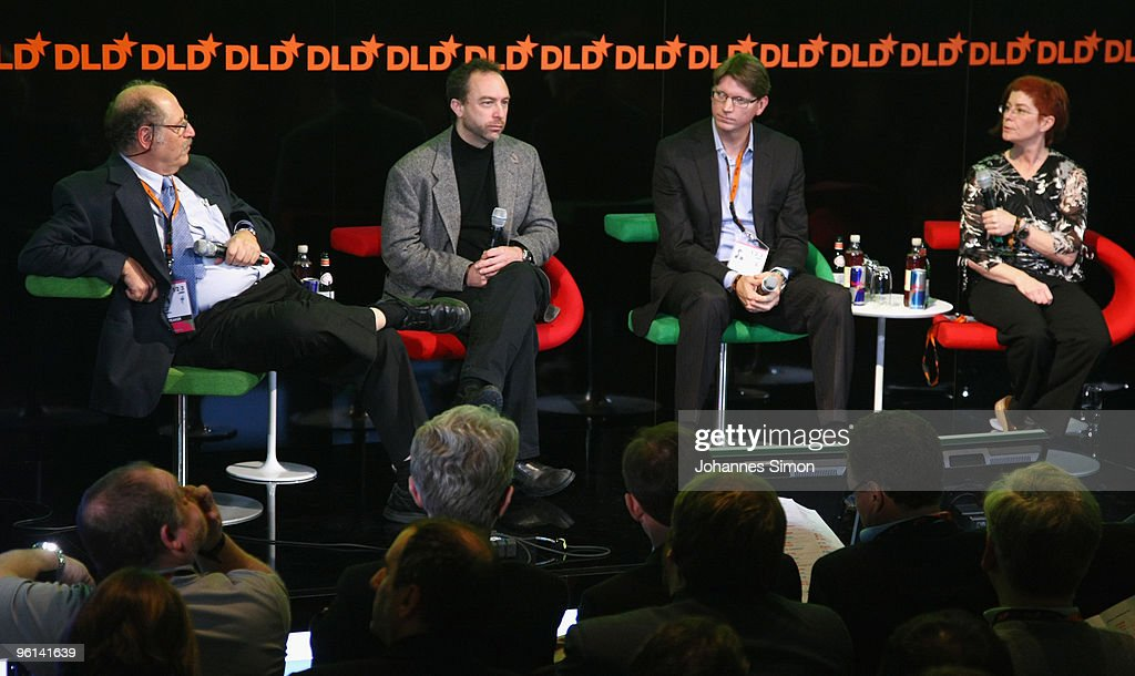Joseph Vardi, <a gi-track='captionPersonalityLinkClicked' href=/galleries/search?phrase=Jimmy+Wales&family=editorial&specificpeople=836275 ng-click='$event.stopPropagation()'>Jimmy Wales</a>, Niklas Zennstroem and Mitchell Baker attend the Digital Life Design (DLD) conference at HVB Forum on January 24, 2010 in Munich, Germany. DLD brings together global leaders and creators from the digital world.