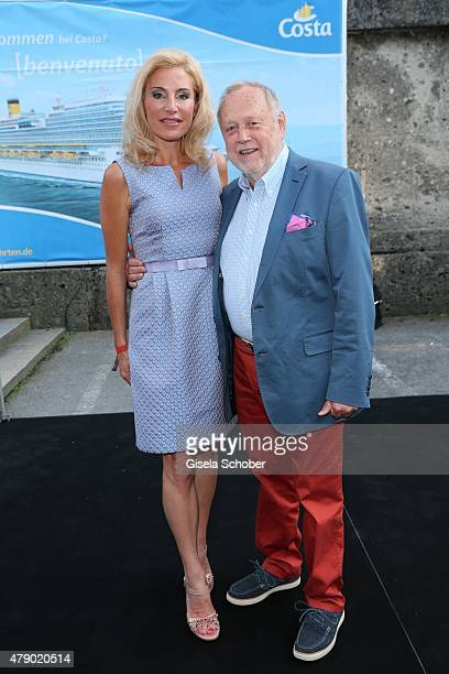 Joseph Vilsmaier and his girlfriend Birgit Muth attend the Movie meets Media party during the Munich Film Festival on June 29 2015 in Munich Germany