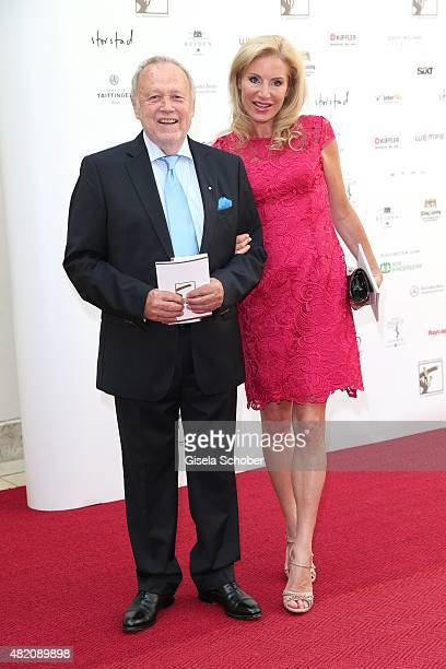 Joseph Vilsmaier and his girlfriend Birgit Muth during the 'Die Goldene Deutschland' Gala on July 26 2015 at Cuvillies Theater in Munich Germany