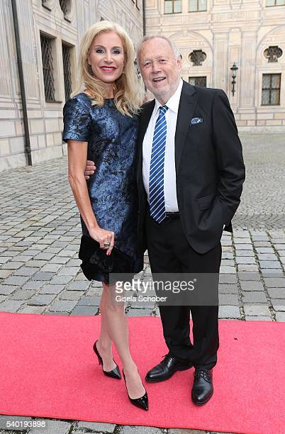 Joseph Vilsmaier and his partner Birgit Muth during a charity dinner hosted by AMADE Deutschland and Roland Berger Foundation at Kaisersaal der...