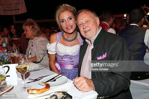 Joseph Vilsmaier and his partner Birgit Muth during the Angermaier TrachtenNacht 2015 at Postpalast in Munich on September 3 2015 in Munich Germany