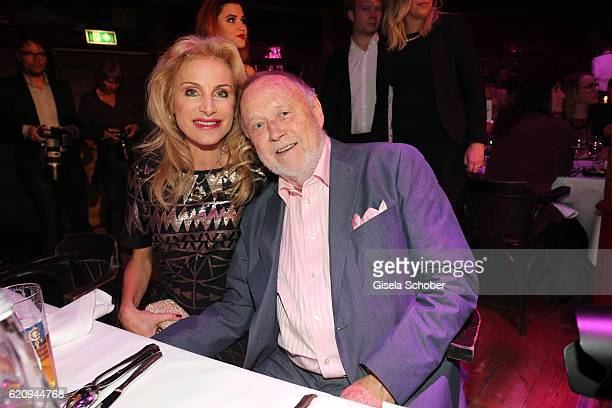 Joseph Vilsmaier and his partner Birgit Muth during the VIP premiere of Schubeck's Teatro at Spiegelzelt on November 3 2016 in Munich Germany