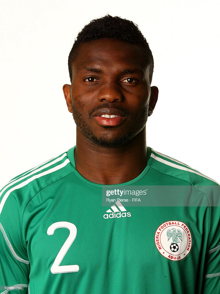 <a gi-track='captionPersonalityLinkClicked' href=/galleries/search?phrase=Joseph+Yobo&family=editorial&specificpeople=220395 ng-click='$event.stopPropagation()'>Joseph Yobo</a> of Nigeria poses during the official FIFA World Cup 2010 portrait session on June 6, 2010 in Johannesburg, South Africa.