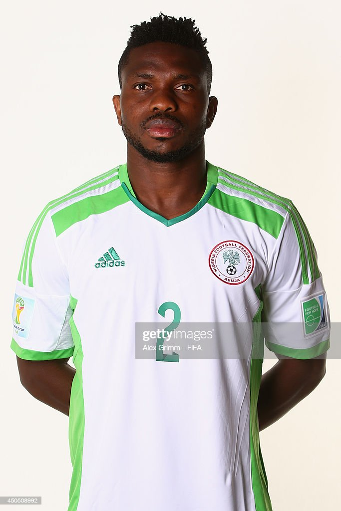 <a gi-track='captionPersonalityLinkClicked' href=/galleries/search?phrase=Joseph+Yobo&family=editorial&specificpeople=220395 ng-click='$event.stopPropagation()'>Joseph Yobo</a> of Nigeria poses during the official FIFA World Cup 2014 portrait session on June 12, 2014 in Campinas, Brazil.