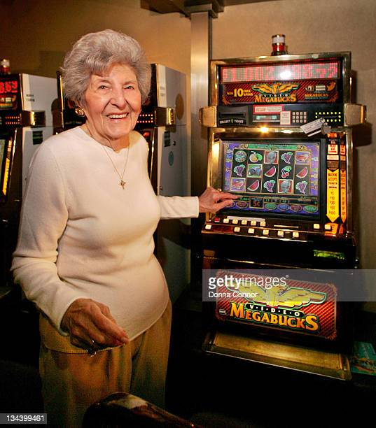 Josephine Crawford of Galloway Township NJ answers questions at a news conference after winning the biggest slot machine jackpot in Atlantic City...