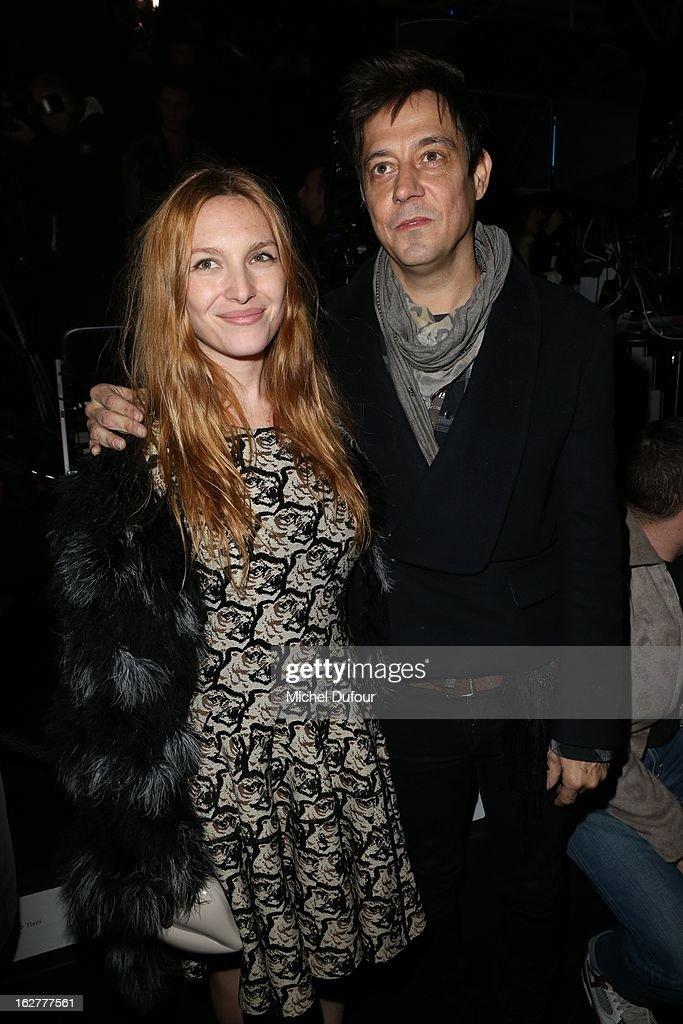 Josephine de la Baume and Jaimie Hince attend the Etam Live Show Lingerie at Bourse du Commerce on February 26, 2013 in Paris, France.