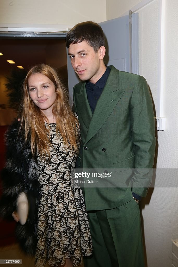Josephine de la Baume and Marc Ronson attend the Etam Live Show Lingerie at Bourse du Commerce on February 26, 2013 in Paris, France.