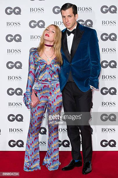 Josephine de La Baume and Mark Ronson arrive for GQ Men Of The Year Awards 2016 at Tate Modern on September 6 2016 in London England